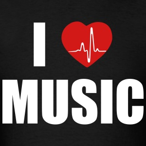 I love music heart T-Shirts - Men's T-Shirt