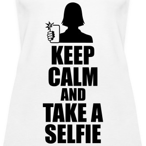 Keep Calm And Take Selfie Tanks - Women's Premium Tank Top
