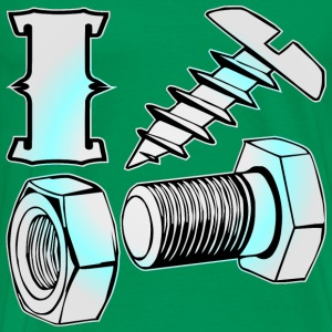 I Screw, Nut & Bolt (x2)  - Men's Premium T-Shirt