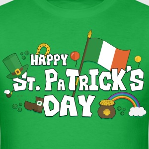 St. Patricks Day Elements - Men's T-Shirt