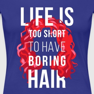 Curly Hair Life is too short Curly T-shirt Women's T-Shirts - Women's Premium T-Shirt