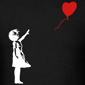 Banksy Red Balloon Girl T-SHIRT - Men's T-Shirt