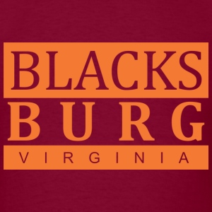 Blacksburg,VA Orange - Men's T-Shirt