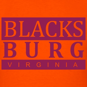 Blacksburg, VA Maroon - Men's T-Shirt