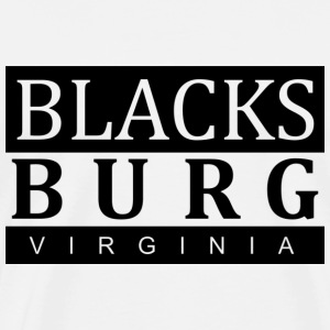 Blacksburg, VA Black - Men's Premium T-Shirt