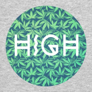 HIGH / cannabis Hipster Typo - Pattern Design  Long Sleeve Shirts - Crewneck Sweatshirt