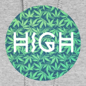 HIGH / cannabis Hipster Typo - Pattern Design  Hoodies - Women's Hoodie