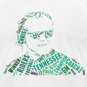 Men's Chris Jones Words Design T-Shirt - Men's T-Shirt by American Apparel