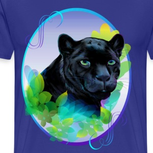 BLACK PANTHER and BLENDING JUNGLE - Men's Premium T-Shirt