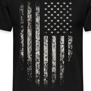 USA Flag Grunge T-Shirts - Men's Premium T-Shirt