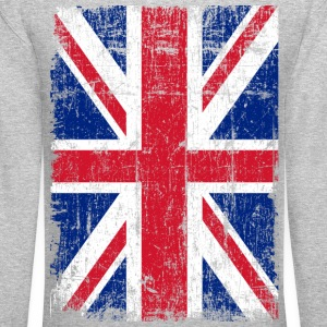 Union Jack Flag Grunge Long Sleeve Shirts - Crewneck Sweatshirt