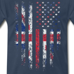 UK US Flag Grunge T-Shirts - Men's Premium T-Shirt