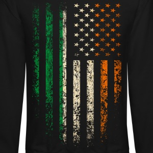 Irish Americans Flag Long Sleeve Shirts - Crewneck Sweatshirt