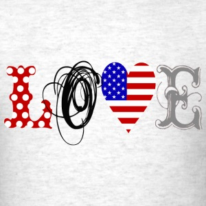 Love USA - black T-Shirts - Men's T-Shirt