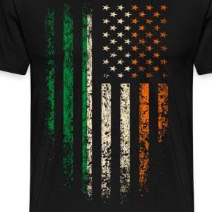Irish Americans Flag T-Shirts - Men's Premium T-Shirt