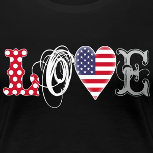 Love USA - white Women's T-Shirts - Women's Premium T-Shirt