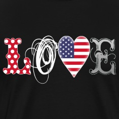 Love USA - white T-Shirts