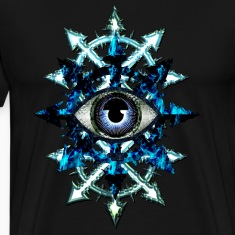 CHAOS STARS AND EVIL EYE - blue design
