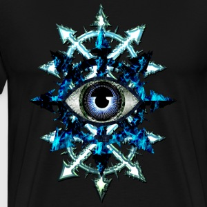 CHAOS STARS AND EVIL EYE - blue design - Men's Premium T-Shirt