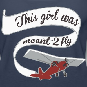 Girl Meant 2 Fly Banner Tanks - Women's Premium Tank Top
