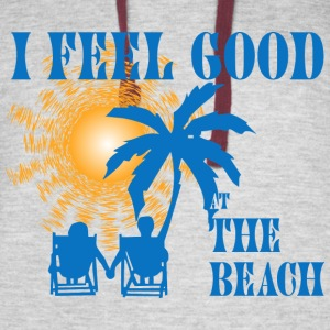Feel good at the beach Hoodies - Colorblock Hoodie