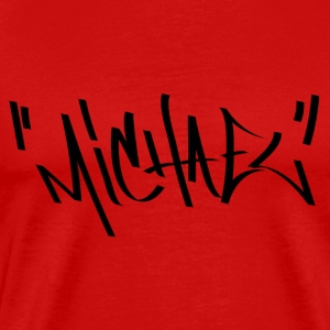 Michael Graffiti Name - Men's Premium T-Shirt