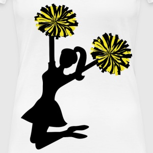 cheerleading girl jumping - Women's Premium T-Shirt