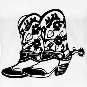 COWGIRL BOOT & SPURS - Women's Premium T-Shirt