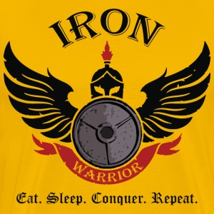 Iron Warrior (Spartan) T-Shirts - Men's Premium T-Shirt
