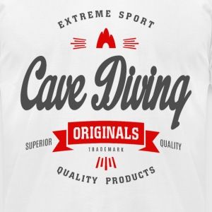 Cave Diving Extreme Sport T-shirt T-Shirts - Men's T-Shirt by American Apparel
