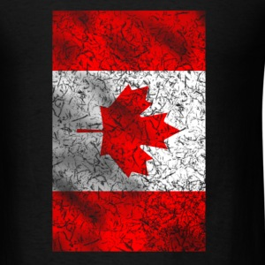 Grunged Canada Flag - Men's T-Shirt