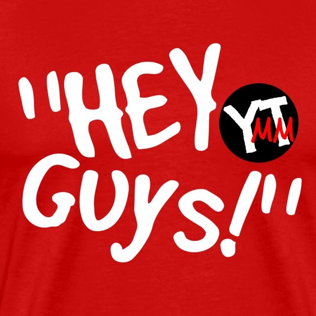 """Hey Guys"" Black & Red Logo"