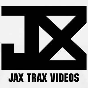 JAX Logo and Video WHITE - Men's Premium T-Shirt