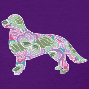 Floral Garden Golden Retriever - Women's T-Shirt