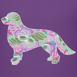 Floral Garden Golden Retriever - Kids' Premium T-Shirt