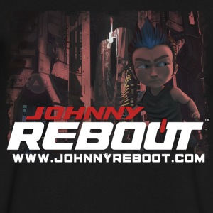 Official Johnny Reboot T-Shirt - Men's V-Neck T-Shirt by Canvas