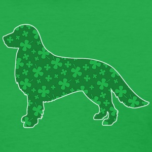 St. Patrick's Shamrock Golden Retriever - Women's T-Shirt