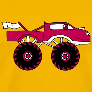 pink girl woman girl female monster truck cool com T-Shirts - Men's Premium T-Shirt