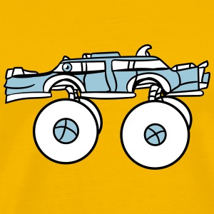 limousine long cool monster truck comic eyes face  T-Shirts - Men's Premium T-Shirt
