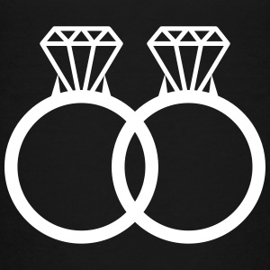 rings wedding marriage diamonds couple love Kids' Shirts - Kids' Premium T-Shirt