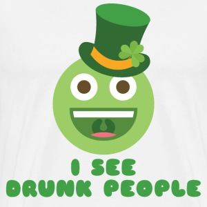 I SEE DRUNK PEOPLE - Men's Premium T-Shirt