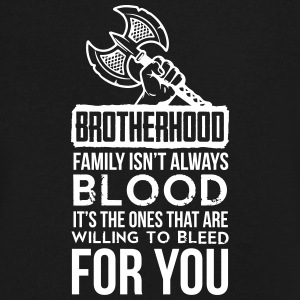 Viking - Brotherhood. Family isn't always blood. T-Shirts - Men's V-Neck T-Shirt by Canvas