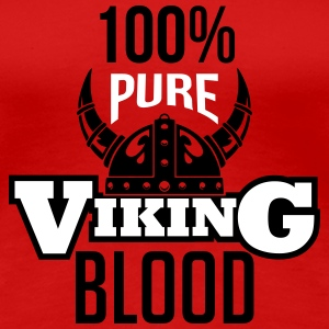 100% pure viking blood Women's T-Shirts - Women's Premium T-Shirt