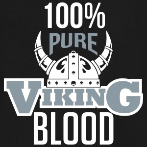 100% pure viking blood T-Shirts - Men's V-Neck T-Shirt by Canvas