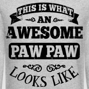 Awesome Paw Paw Long Sleeve Shirts - Crewneck Sweatshirt