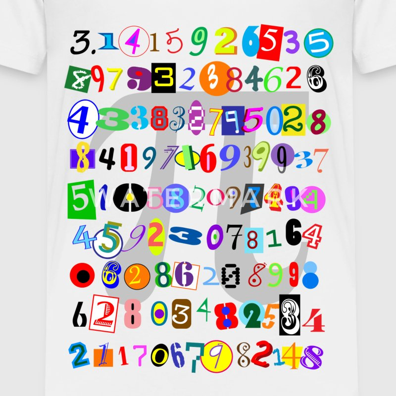 The Many Digits of Pi - Toddler Premium T-Shirt