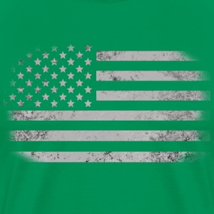 Distressed American Flag - Men's Premium T-Shirt