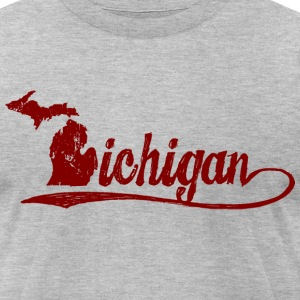 Michigan Script T-Shirts - Men's T-Shirt by American Apparel