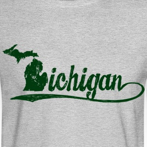 Michigan Script Long Sleeve Shirts - Men's Long Sleeve T-Shirt