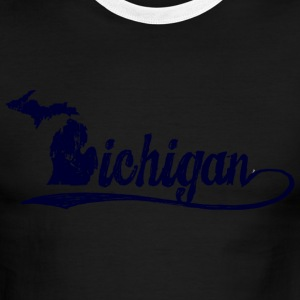 Michigan Script T-Shirts - Men's Ringer T-Shirt